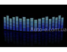 Эквалайзер 4х цветный: синий - голубой - неон - белый 45*11см