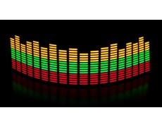 Эквалайзер 3х цветный: красный - зелёный - оранж. 70*16см