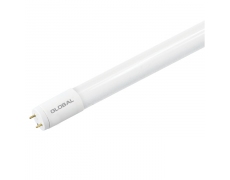 LED лампа GLOBAL T8 (труба), 8W, 60 см, холодный свет, G13, 220V (NEW-1)