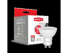 LED лампа MAXUS MR16 5W теплый свет GU10 (1-LED-517)