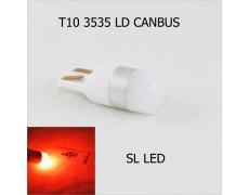 LED лампа в габарит SL LED, с обманкой, can bus, цоколь W5W(T10) Osram led 3030 12 В. Красный