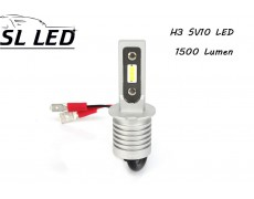 Комплект Led ламп серии SV10, цоколь H3 (PK22Ss) 13W-CSP led 6000K
