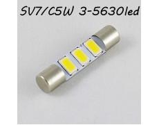 Led лампа в солнцезащитные козырьки, зеркала SV7 (C5W) 3-5630 28-29mm 12V Белый 6000K