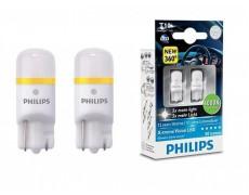 Лампа светодиодная Philips W5W X-Treme Vision LED, 4000K, 2шт/блистер