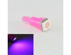 Светодиодная лампа в подсветку панели приборов с цоколем T5(W2x4,6d)(W1.2) 1-5050 12V-Розовая