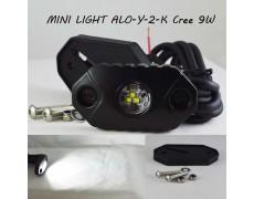 Компактный Led прожектор Aurora ALO-Y-2-K Сree 3*3W 9-36V IP68/69K 600 Люмен, Ближний свет