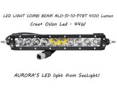 Дополнительная LED фара ALO-S1-10-P7BT 44W 8 Oslon + 2 Cree 9-36V IP69 4100 Люмен, Комби свет
