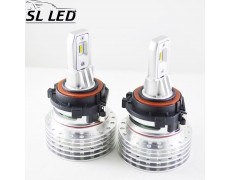 LED лампы в головной свет Volkswagen, серии SLV, Цоколь H7, 20W, 4000 Люмен/Комплект
