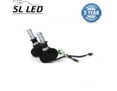 Установочный набор LED ламп в ПТФ и основные фонари SLP S1-LED Цоколь H3, 21W, 3250 Люмен/Комплект