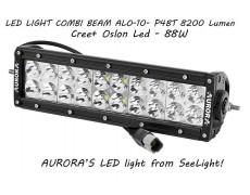 Дополнительная LED фара ALO-10- P4BT 88W 16 Oslon + 4 Cree 9-36V IP69 8200 Люмен, Комби свет