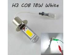 Светодиодная лампа в ПТФ, SLP LED под цоколь H3 светодиоды типа COB 18W 9-30 В. Белый