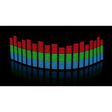 Эквалайзер 3х цветный: синий - зелёный - красный 70*16см