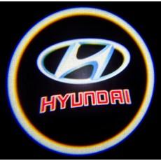 Подсветка дверей авто - Hyundai (Red)