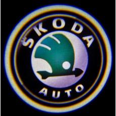 Подсветка дверей авто - Skoda