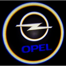 Подсветка дверей авто - Opel (синий)