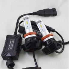 LED лампы в головной свет G7 цоколь Н11 24W 4000 Люмен/Комплект 6000K