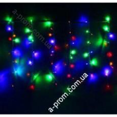 "Гирлянда светодиодная ""Висюлька"" RGB 108 ламп(LED) белый (прозрачный) провод."