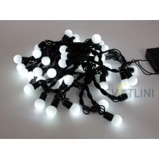 Гирлянда Нить (STRING) 4м, ЧЕРННЫЙ КАБЕЛЬ ПВХ, 50 светодиодов, Белого цвета свечения с контроллером