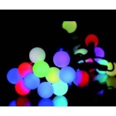 """Гирлянда светодиодная """"Шарики"""" 40 ламп(LED) RGB, уличная. Цвета светодиодов: микс (разноцветный). Цвет шнура: черный."""