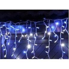 """Гирлянда светодиодная """"Висюлька""""108 ламп (LED). Цвет светодиодов: белый холодный, микс (разноцветный), синий, белый тёплый ; Цвет шнура: белый (прозрачный)."""