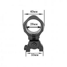 Крепление для фонаря на гладкоствольное оружие (High Quality Plastic 25-31 мм)