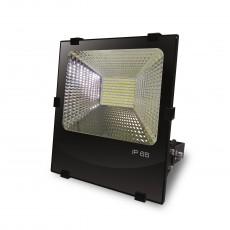 Светодиодный EUROELECTRIC LED SMD Прожектор черный с радиатором 100W 6500K