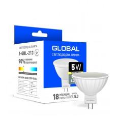 Светодиодная лампа Global MR16 5W теплый свет GU5.3