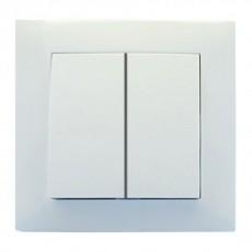 Выключатель RIGHT HAUSEN VELENA 2-й внутр. белый HN-011041