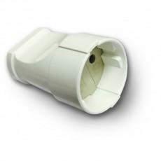 Гнездо RIGHT HAUSEN штепсельный б/з белое HN-022011