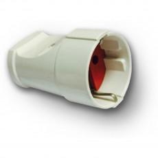 Гнездо RIGHT HAUSEN штепсельный с/з белое HN-022021