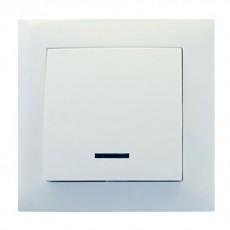 Выключатель RIGHT HAUSEN VELENA 1-й внутр. с подсв. белый HN-011021