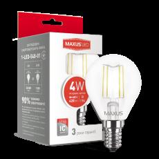 LED лампа MAXUS G45 FM 4W яркий свет 220V E14 (1-LED-548-01)