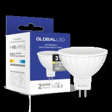 LED лампа GLOBAL MR16 3W мягкий свет 220V GU5.3 (1-GBL-111) (NEW)