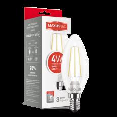 LED лампа MAXUS C37 FM-C 4W 3000K 220V E14 (1-LED-537-01)