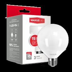 LED лампа MAXUS G95 15W 4100K 220V E27 (1-LED-904)