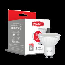 LED лампа MAXUS MR16 5W яркий свет GU10 (1-LED-516)