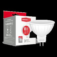 LED лампа MAXUS MR16 8W мягкий свет 220V GU5.3 (1-LED-515) (NEW)