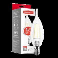 LED лампа MAXUS C37 FM-T 4W яркий свет 220V E14 (1-LED-540-01)