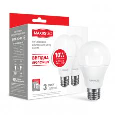 LED лампа MAXUS A60 10W яркий свет 220V E27 (по 2 шт.) (2-LED-562-01)