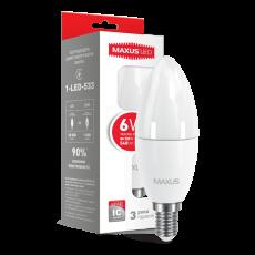 LED лампа C37 6W мягкий свет 220V E14 (1-LED-533) (NEW)