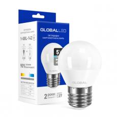LED лампа GLOBAL G45 F 5W яркий свет 220V E27 AP (1-GBL-142-02)