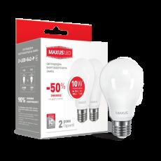 LED лампа MAXUS A60 10W яркий свет 220V E27 (1-LED-562-P) (NEW)