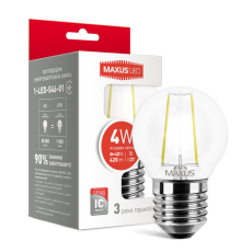 LED лампа MAXUS G45 FM 4W яркий свет 220V E27 (1-LED-546-01