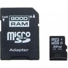 Карта памяти Goodram microSDHC 32GB Class 4 + adapter