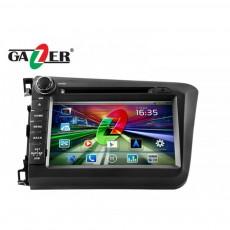Штатная магнитола Gazer CM182-RE5 Honda Civic 2012