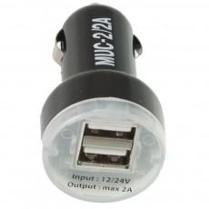 Зарядное устройство USB Mystery MUC 2/2A 12/5V 2А