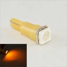 Светодиодная лампа в подсветку панели приборов с цоколем T5(W2x4,6d)(W1.2) 1-5050 12V-Жёлтая