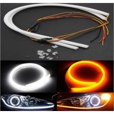 Дневные ходовые огни SL LED, гибкая лента с указателем поворота в фары 60 см.