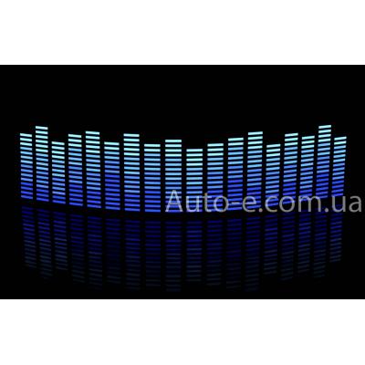 Эквалайзер 4х цветный: синий - голубой - неон - белый, 70*16см