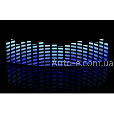 Эквалайзер 4х цветный: синий - голубой - неон - белый, 90*25см